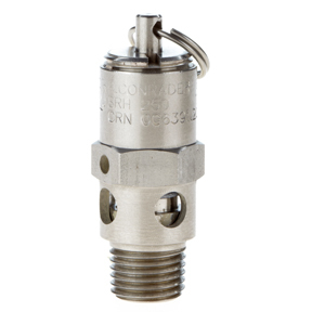 Stainless 304 steel pressure regulating valve , Mini Safety Valve , 304 Stainless Debugging Exhaust Valve