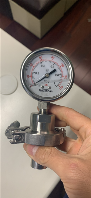 Tri Clamp Gauge Low Price Sanitary Pressure Gauge , SS304 Pressure Gauges Clamp End Sanitary
