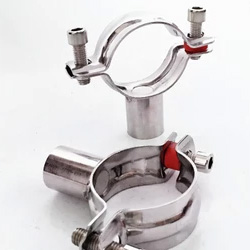 Sanitary Stainless Steel Pipe Holder , Steel pipe hanger stanoless 304
